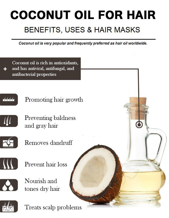 coconut oil against dandruff