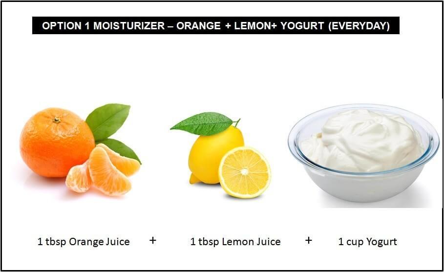 Orange, Lemon, and Yogurt Moisturizer