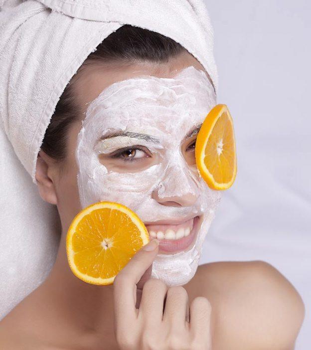 Orange Juice Face Pack For Dry Skin