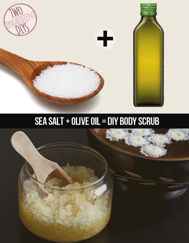 Olive Oil And Sea Salt Scrub