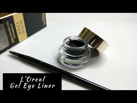 L'oreal Super Liner 24hr Water Proof Gel Eyeliner – Blackest