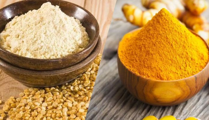 Chickpea Powder And Turmeric